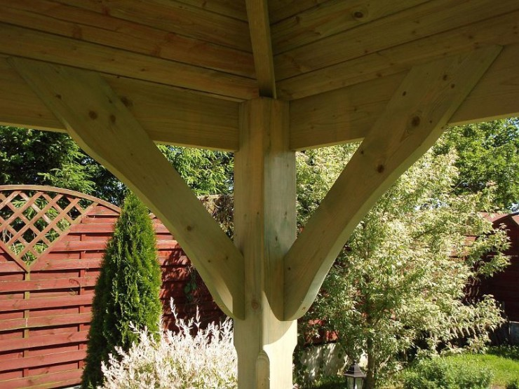 Cotswold Luxury canopy with cedar roof